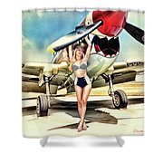 Curtis P-40 Warhawk Shower Curtain
