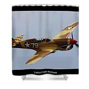 Curtis P-40n Warhawk Shower Curtain