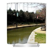 Curve In The Richmond Canal Shower Curtain