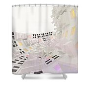 Curve - Round And Round, Abstract Cg Shower Curtain