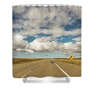 Curve Sign Shower Curtain