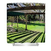Curved Arbor  Shower Curtain