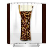 Curved Cola Glass Shower Curtain