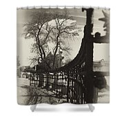 Curved Gate Shower Curtain