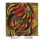 Curved Lines 2 Shower Curtain