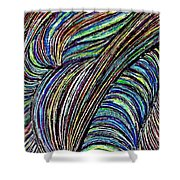 Curved Lines 7 Shower Curtain