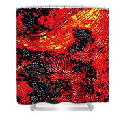Curved Lines 8 Shower Curtain