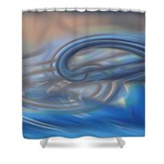 Curved Lines Shower Curtain