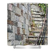 Curved Stone Staircase 235 Shower Curtain