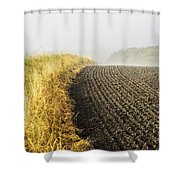 Curves And Fog Shower Curtain