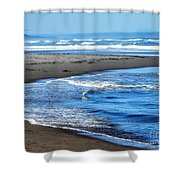 Curves And Waves Shower Curtain