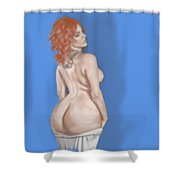 Curves Of Helga Shower Curtain by TortureLord Art