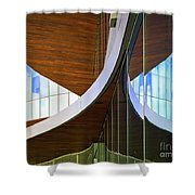 Curving Reflections Shower Curtain