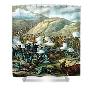 Custer's Last Stand Shower Curtain