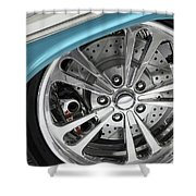 Custom Car Wheel Shower Curtain