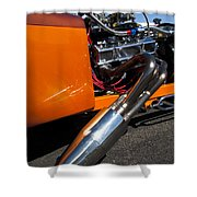 Custom Hot Rod Engine 2 Shower Curtain