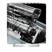 Custom Racing Car Engine Shower Curtain