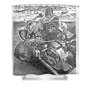 Custom Riders Shower Curtain