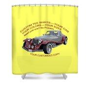 Custom Tee Shirts Shower Curtain