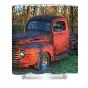 Customized Rust 1949 Ford Pickup Truck Shower Curtain