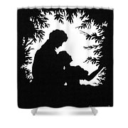 Cut-paper Silhouette Shower Curtain