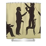 Cut Silhouette Of Four Full Figures 1830 Shower Curtain