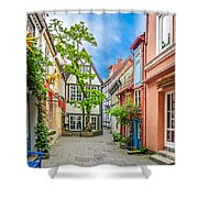 Cute And Colorful European Houses Shower Curtain
