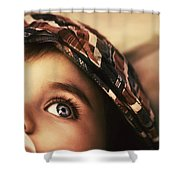 Cute Baby Eating Shower Curtain