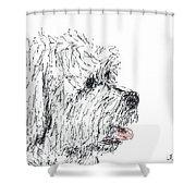 Cute Dog Shower Curtain