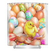 Cute Easter Chick Shower Curtain