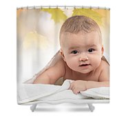 Cute Four Month Old Baby Boy Shower Curtain