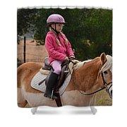 Cute Girl On Horse 2 Shower Curtain