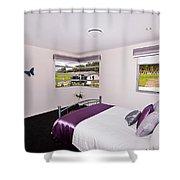 Cute Girl's Bedroom Shower Curtain