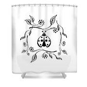 Cute Ladybug Baby Room Decor Vi Shower Curtain