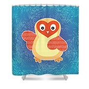 Cute Little Baby Chick Shower Curtain