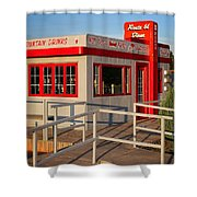 Cute Little Route 66 Diner Shower Curtain