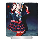 Cute Little Thai Girl Dancing Shower Curtain