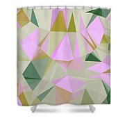 Cute Polygonal Shower Curtain