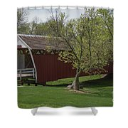 Cutler - Donahoe Covered Bridge - Madison County - Iowa Shower Curtain