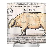 Cuts Of Pork Shower Curtain