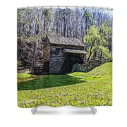 Cuttalossa Mill In The Springtime Shower Curtain