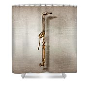 Cutting Torch Right Face Shower Curtain