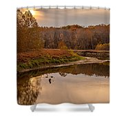 Cuyahoga Valley Autumn Sunset Shower Curtain