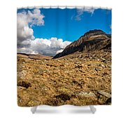 Cwm Idwal Panorama Shower Curtain