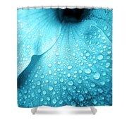 Aqua Droplets Shower Curtain