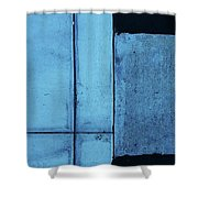 Cyan Shower Curtain