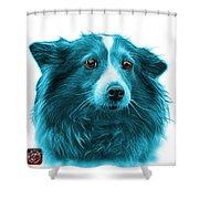 Cyan Shetland Sheepdog Dog Art 9973 - Wb Shower Curtain
