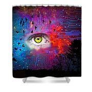 Cyber Nature Shower Curtain