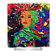 Cyberspace Goddess Shower Curtain