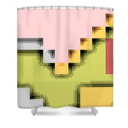 Cyberstructure 1 Shower Curtain by Eikoni Images